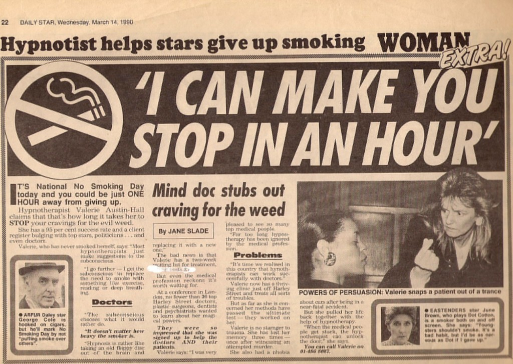 I Can Stop Smoking in One Hour, The Star, 14 March 1990
